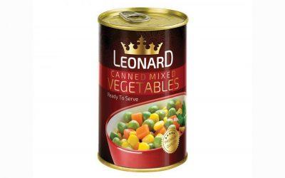 کنسرو سبزیجات مخلوط