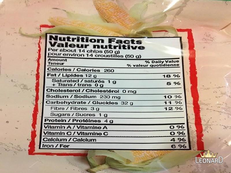 جدول ارزش غذایی ذرت