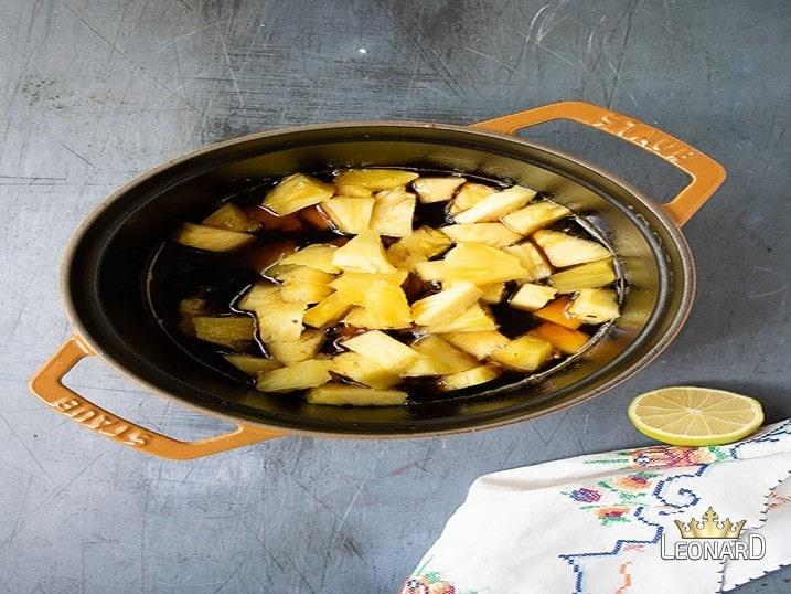 درست کردن کمپوت آناناس خانگی