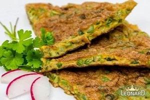 طرز تهیه کوکو مرغ و لوبیا سبز