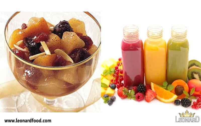 کمپوت مخلوط با انواع میوه ها