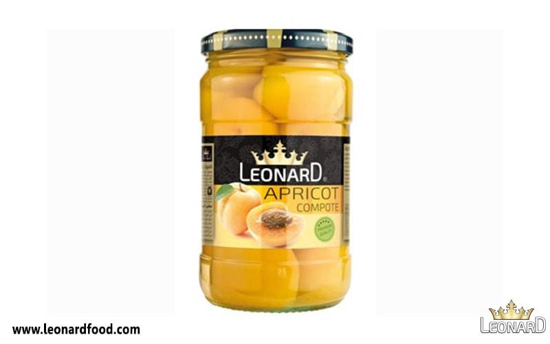 کمپوت زردآلو لئونارد