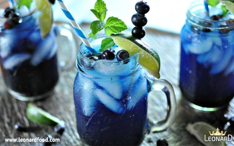 طرز تهیه شربت بلوبری (شربت رنگ زغال اخته آبی)|نوشیدنی بلوبری